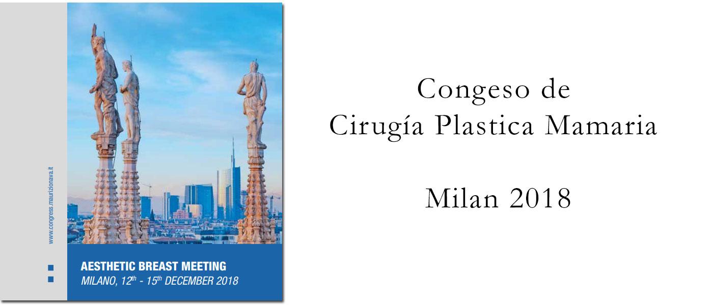 Cirugía plástica mamaria - Milán 2018