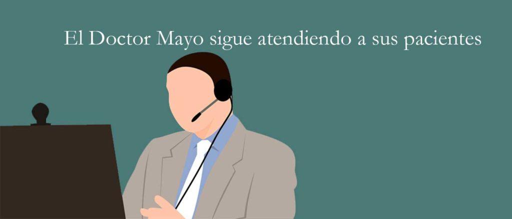 El Doctor Mayo sigue atendiendo a sus pacientes